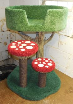 Hollywood Kitty Company offers the finest in Custom Pet Furniture! Cute Room Ideas, Cute Room Decor, Mushroom Decor, Mushroom Caps, Dream Rooms, Dream Bedroom, Cat Room, Pet Furniture, Aesthetic Room Decor