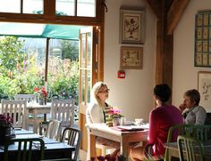 Eating at the Duchy of Cornwall café in Lostwithiel