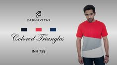 Get flat 50% OFF on Colored Triangles T- Shirts at Fabnavitas, Leading Brand