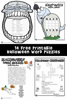 Super-cute printable Halloween word puzzles for kids, with links for more Halloween classroom crafts and Halloween printables. Halloween Word Search, Halloween Puzzles, Classroom Halloween Party, Halloween Worksheets, Halloween Words, Classroom Crafts, Classroom Fun, Halloween Activities, Classroom Activities