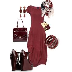 Red, created by roz-harman on Polyvore