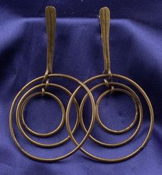 Brass Earpendants, Art Smith.