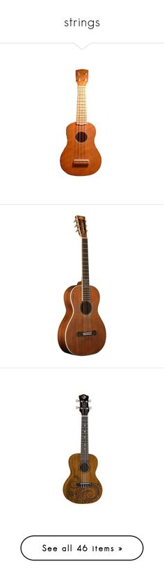 """""""strings"""" by hippiesrule9 ❤ liked on Polyvore featuring fillers, brown fillers, music, other, summer fillers, backgrounds, guitars, instruments, accessories and objects"""