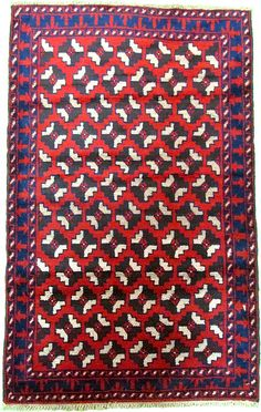 Red 3' 1 x 5' 0 Balouch Rug | Area Rugs | eSaleRugs