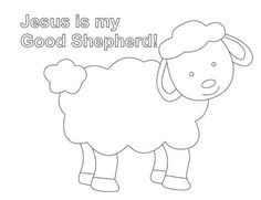 Shepherd And Sheep Coloring Page | Lesson Five: The Good Shepherd