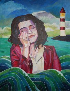 Sunken, 2011  70 x 50 cm, acrylic on canvas  in private hands  www.michaelehrhardt.de