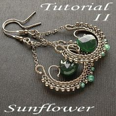 Tutorial II wirewrapped earrings step by step by...