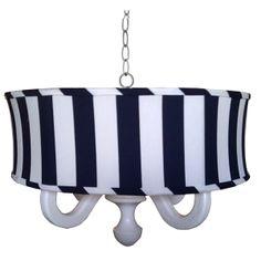 Big Stripe Drum Chandelier   slumberstyle.com #lighting #kids