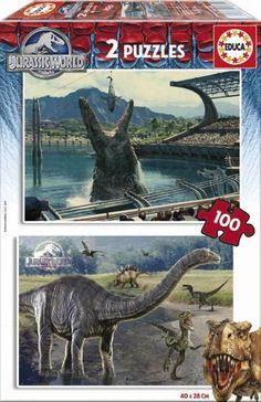 puzzle 2x100 jurassic world ( Ref: 0000016340 )