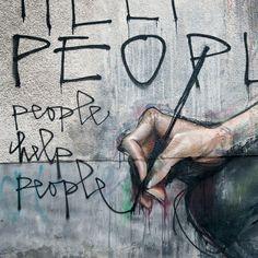 "Artist : Herakut ""People Help People""!!!!!!!"