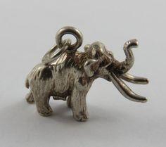 Kiola Designs Silver Toned Woolly Mammoth Tie Tack
