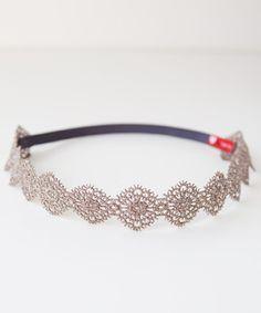 metallic lace headwrap