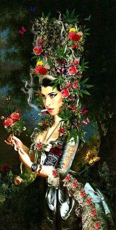 Amy Winehouse meets Marie Antoinette love this! Amy Winehouse, Jimi Hendricks, Arte Pop, Marie Antoinette, Steam Punk, Oeuvre D'art, Divas, Festivals, Vintage Posters