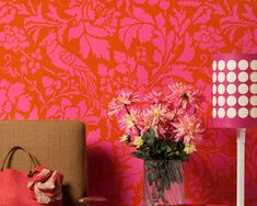 Wall Stencil Large French Floral Damask Allover Stencil for Elegant DIY Wall Decor Damask Wall Stencils, Flower Stencils, Stenciled Floor, Stenciled Curtains, Tropical Home Decor, Diy Home Decor Projects, Decor Ideas, Painted Doors, Diy Wall Decor