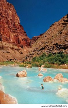 My favorite place for house boating.the Colorado River. Little Colorado River with it's travertine blue waters at the with the Colorado River and the junction of Marble Canyon and the Grand Canyon itself. One of the top 10 canyon places on earth. Places Around The World, Oh The Places You'll Go, Places To Travel, Travel Destinations, Holiday Destinations, Dream Vacations, Vacation Spots, Grand Canyon Usa, Grand Canyon Resorts