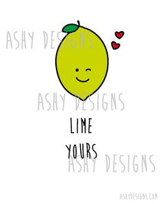 LIME YOURS - I'm Yours Citrus Fruit Pun Artwork - 8x10 inch 20x25 cm Print… Bad Puns, Funny Puns, Cute Puns, Food Jokes, Food Humor, Pun Card, Cute Cards, Cards Diy, Funny Cards