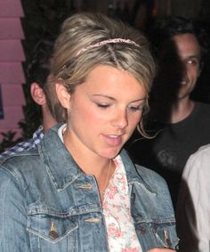 Ali Fedotowskys cute and casual updo