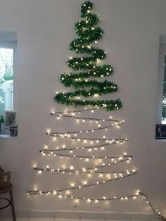 Check out this Wall Christmas Tree String Light on Shein and explore more to meet your fashion needs! Wall Christmas Tree, Outside Christmas Decorations, Ribbon On Christmas Tree, Simple Christmas, Christmas Lights, Christmas Diy, Minimalist Christmas, Grinch Christmas, Silver Christmas