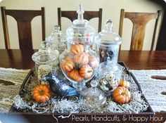 Tablescape.  Cheesecloth is a must!