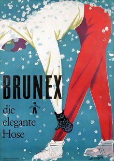 Albert Borer Poster: Brunex die elegante Hose