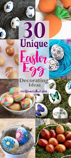 30 Unique Easter Egg Decorating Ideas to make your Easter Eggs the life of the party. Natural dyes, decoupage, painting & more. These are beautiful! via /KleinworthCo/