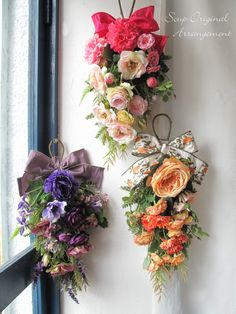 Alternative Bridesmaid bouquets. Interesting design.