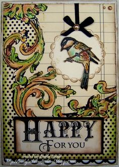 Happy for You - created using #Spellbinders Paper Arts Dies and Layers of Color images by Linda Lucas