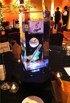 Baseball theme Ice Centerpiece Ice Sculpture Ice Luge, Ice Bars, Ice Sculptures, Lake Geneva, Snow And Ice, Winter Snow, Wedding Centerpieces, Design Art, Custom Design