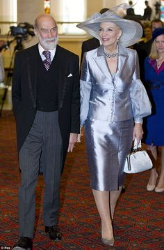 Prince and Princess Michael of Kent (love the sleeves on her jacket)