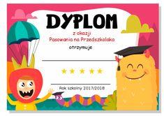 Pasowanie na przedszkolaka - dyplomy i inspiracje - Pani Monia Nursery School, Nursery Art, Pikachu, Kids, Fictional Characters, Speech Language Therapy, Young Children, Boys, Children