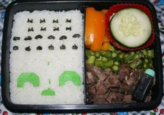Space Invaders Bento Box Recipe