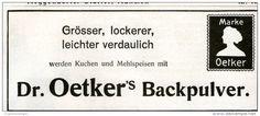 Original-Werbung/Inserat/ Anzeige 1910 - DR.OETKER BACKPULVER- ca. 55 X 140 mm