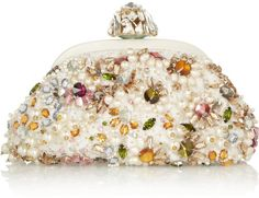 Dolce   Gabbana - White Miss Dea Small Embellished Lace Clutch afbdc59981045