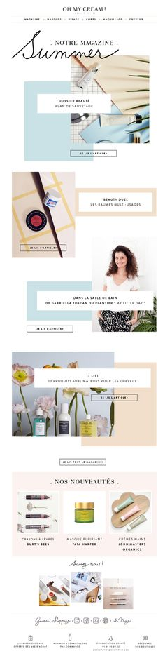 Newsletter beauté Oh My Cream !