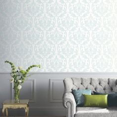Lucca Damask Wallpaper Mocha and Cream Arthouse 891201 Sparkle Wallpaper, Damask Wallpaper, Love Wallpaper, Pattern Wallpaper, Landing Decor, Modern Wallpaper Designs, High Quality Wallpapers, Home Art, Lucca