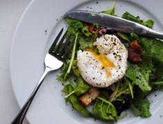 Salad Lyonnaise - spring mix, poached egg, dijon vinaigrette