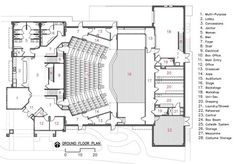 Camelot Theater - Everything you are looking Auditorium Design, Auditorium Plan, Auditorium Architecture, Theatre Architecture, Architecture Plan, The Plan, Plan 2d, How To Plan, Cultural Architecture