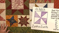 Learn how to determine the base makeup of quilt blocks - whether they are four, nine or sixteen patches - and how to resize them. Quilting For Beginners, Quilting Tips, Quilting Tutorials, Machine Quilting, Quilting Projects, Sewing Tutorials, Easy Quilts, Mini Quilts, Pattern Blocks