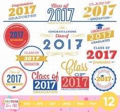 #Graduation2017 #Graduation #Classof2017 #ClassOf #Class #Celebration #ceremony #SVG #collection, Class of 2017 #SVGs, #SVG #Files, #Graduate #Decoration #Silhouette #CutFiles, #Cameo #Cricut #CutFiles by #VectorsForAll on #Etsy