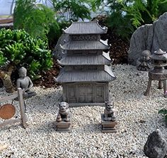 Amazon.com: Miniature Fairy Garden Zen Pagoda: Home U0026 Kitchen