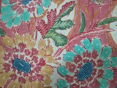 Colorfull and flowery Batik from Pekalongan. Hand-drawn batik and vintage #Indonesian Batik