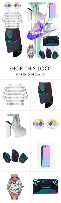 """""""Holo queen 🦄✨"""" by peanutscloe ❤ liked on Polyvore featuring Jonathan Saunders, Vivienne Westwood, H0les, Betsey Johnson, Proenza Schouler, Christmas, NewYearsEve, holo and holodays"""