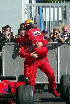 Race winner Michael Schumacher (GER) Ferrari and Ross Brawn (GBR) Ferrari… Michael Schumacher, Mick Schumacher, Sports Car Racing, F1 Racing, Johnny Herbert, Italian Grand Prix, Ferrari F1, Classic Sports Cars, F1 Drivers
