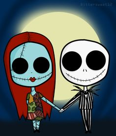 Jack and Sally.. by ~Bittersweet12 on deviantART