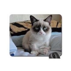 Grumpy Cat Computer Mousepad Laptop Desktop Accessories School Office Supplies