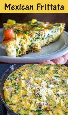 Here are the ingredients used in our Mexican Frittata. I find the chorizo-jalapeno-cheese combo irresistible but you can always make a vegetarian version too. So good! 10 eggs 1 potato 1 chorizo sausage link 1/2 onion 2 jalapenos 1/2 cup chopped cilantro (approx. 15-20 sprigs) 1/2 cup cubed cheese (I used Jack) shredded Cotija cheese 1/2 teaspoon chipotle powder 1/2 teaspoon salt freshly cracked black pepper olive oil #mexican #frittata Supper Recipes, Chef Recipes, Slow Cooker Recipes, Great Recipes, Cooking Recipes, Favorite Recipes, Jalapeno Cheese, Cotija Cheese, Mexican Cooking