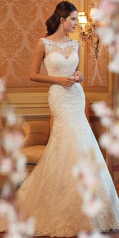 weddingdress tyll 2014 Spring Wedding Dresses by Sophia Tolli Scoop Wedding Dress, 2015 Wedding Dresses, Wedding Dress Styles, Bridal Dresses, Bridesmaid Dresses, Lace Wedding, Romantic Dresses, 1920s Wedding, Backless Wedding