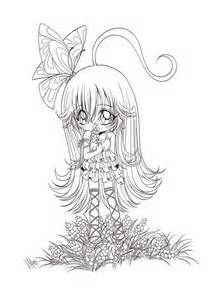 cute anime coloring pages bing images