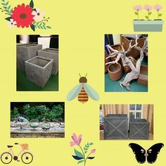 Must have items for the Spring to go with Outdoor Fiberglass Planters!