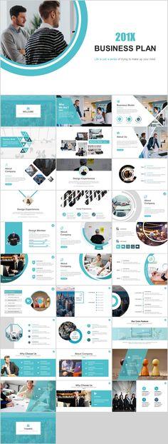 32+ Business Plan Blue PowerPoint template on Behance